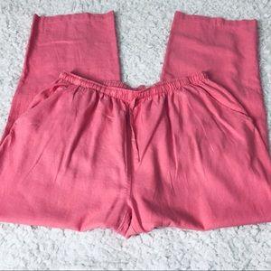 Erika Women's 55% Cotton 45% Rayon Pink Pants